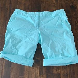 Pants - Lightweight Stretchy Turquoise Bermuda Shorts